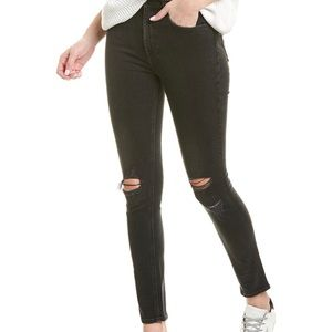 Rag & Bone skinny black jeans rock with holes